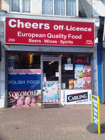 off-licence with Confectionary, Tabaoo and Polish Food Stores