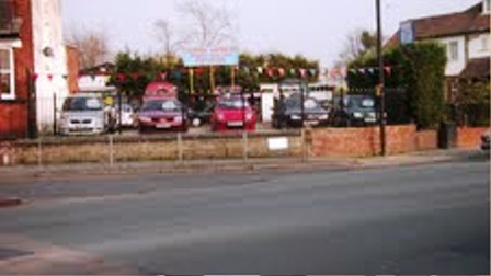 Used Car Sales Lot On A6 Main Stockport /  manchester Road Well Known & Long Esta