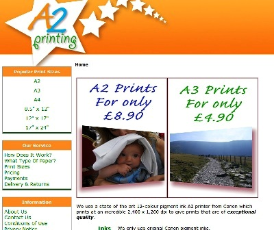 A2 Poster Printing Website