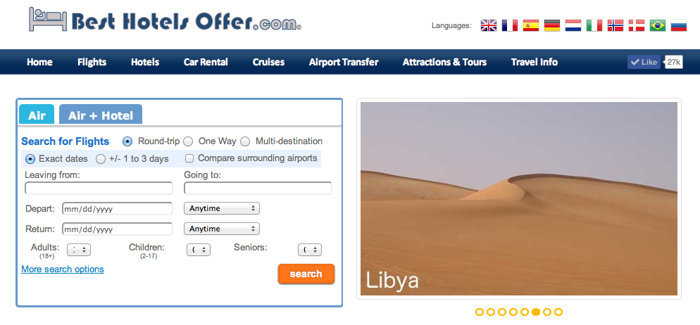 Besthotelsoffer_com Is An Online Travel Agency