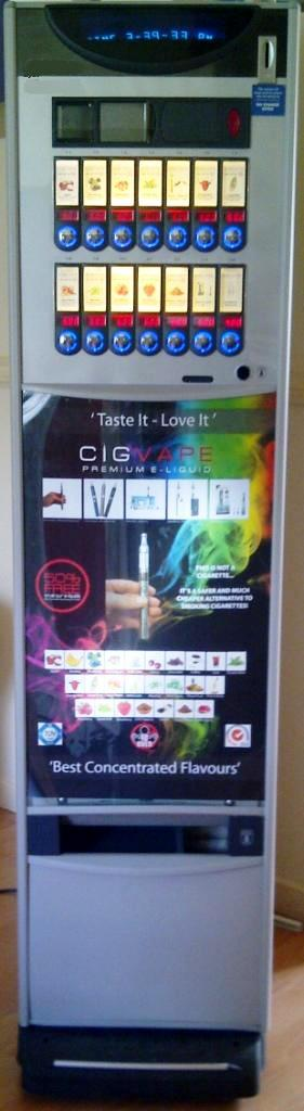 Electronic Cigarette & E Liquid Vending Machine + Wholesale High Quality E Cig E